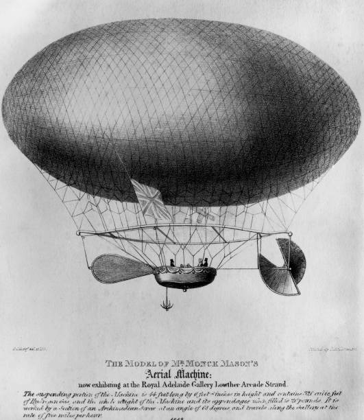 The 'Victoria', an early airship built by English aviator...