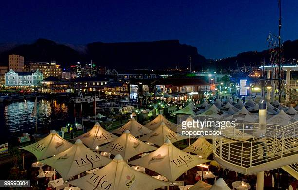 The Victoria and Alfred Waterfront in Cape Town Harbour with Table Mountain in the background are pictured on May 192010 in Cape Town South Africa...
