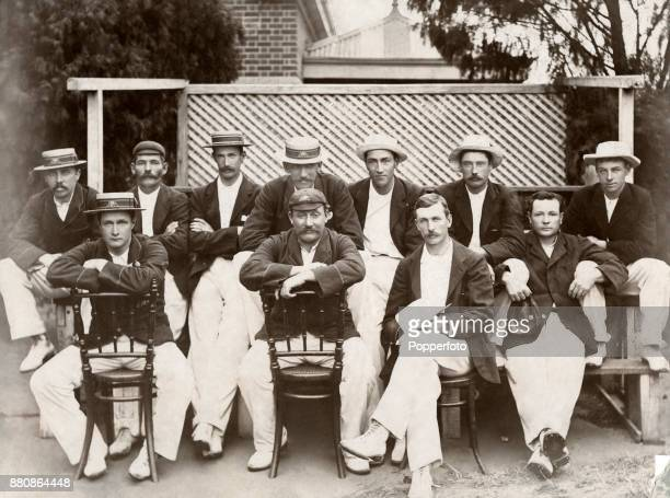 The Victoria Eleven cricket team at Melbourne prior to their match against South Australia circa January 1897 Left to right back row Alfred Johns...