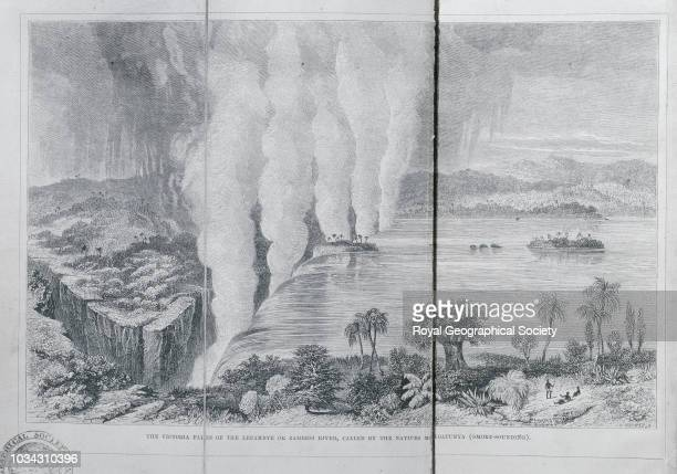 The Victoria Falls of the Leeambye or Zambesi River called by the natives Moyoatunya From Missionary travels and researches in South Africa including...