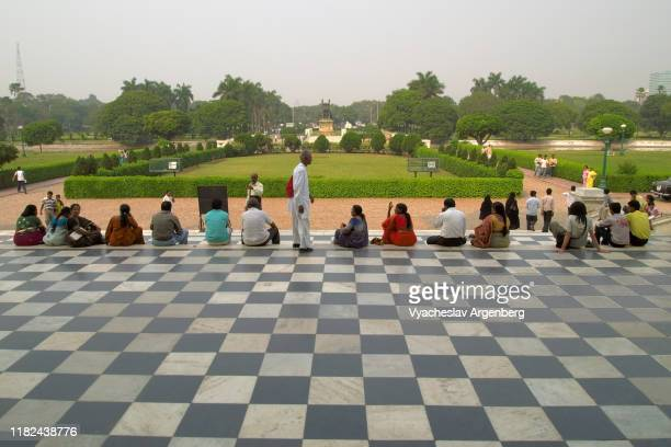 the victoria memorial, kolkata, maidan grounds - argenberg stock pictures, royalty-free photos & images