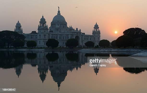 The Victoria Memorial on November 30, 2012 in Kolkata, India.