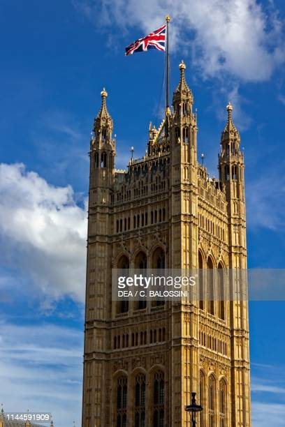 The Victoria Tower architect Charles Barry London England United Kingdom 19th century