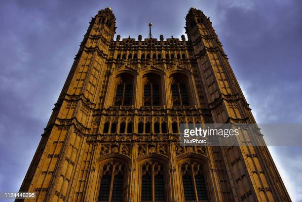 The Victoria Tower is pictured in London on February 12 2019