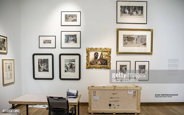 The Victorian portrait of engraver Leopold Lowenstam by Sir Lawrence AlmaTadema is pictured at the Fries Musum in Leeuwarden on September 25 2016 The...