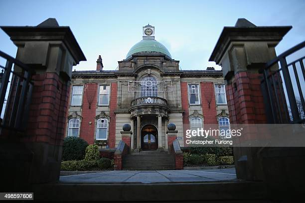 The Victorian splendour of Chadderton Town Hall in Oldham which reflects the wealth of the former cottons towns of the North on November 24 2015 in...