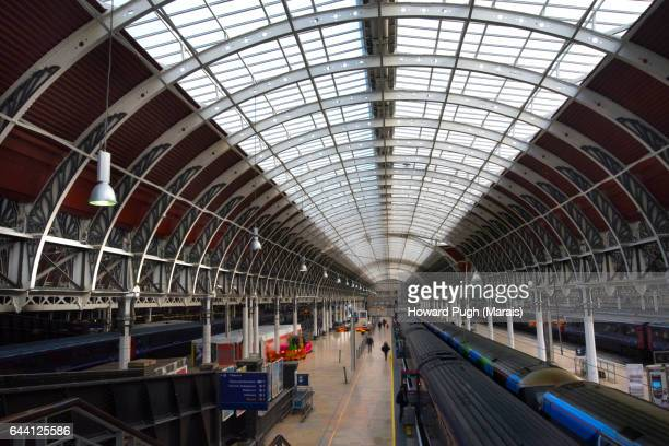 The Victorian Train Shed at London Paddington Station