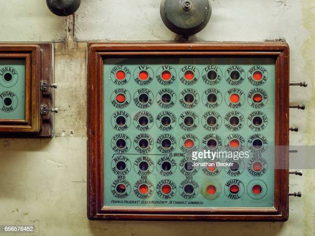 The Victorianera servants bell board at St Giles House is photographed on September 9 2015 in Dorset England