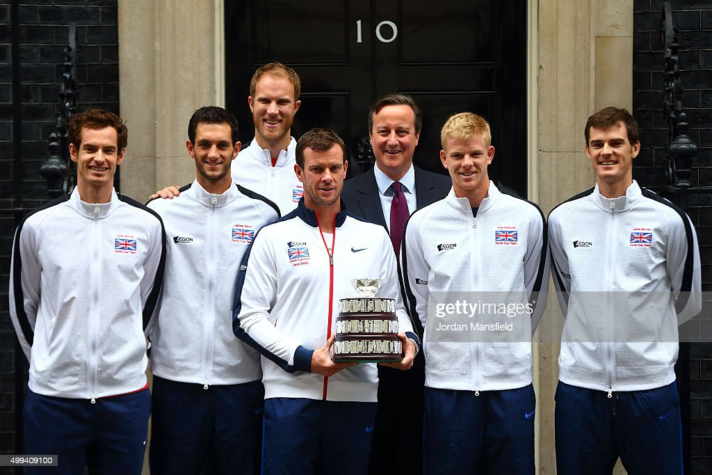 The Victorious Great Britain Davis Cup Team With The Davis Cup