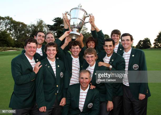 The victorious USA team after the final afternoon singles matches on the East Course at Merion Golf Club on September 13, 2009 in Ardmore,...