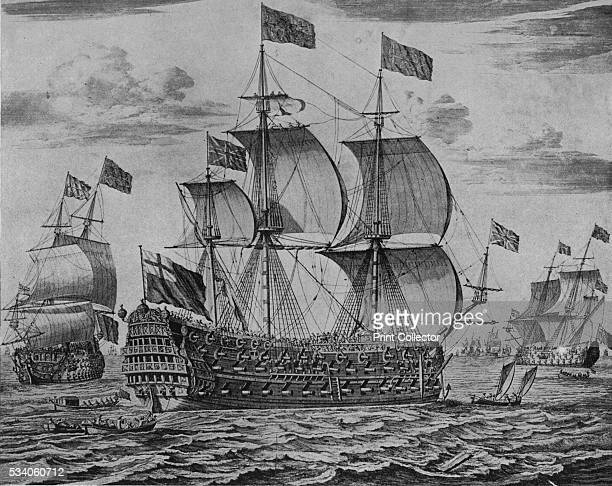 The Victory' from 'Old Naval Prints' by Charles N Robinson Geoffrey Holme 1924 Launched in 1675 and originally named HMS 'Royal James' HMS 'Victory'...
