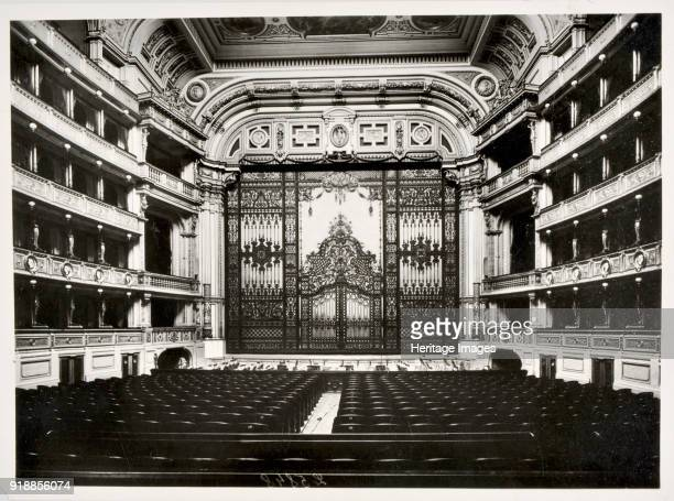 The Vienna Imperial Opera The first Iron Curtain design by Anton Brioschi 1882 Found in the collection of Theatre Museum Vienna