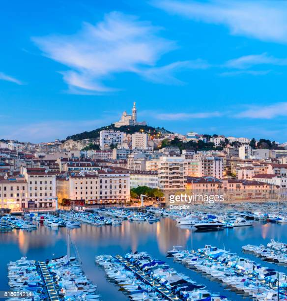 The Vieux Port (Old Port) in Marseille at Twilight, France