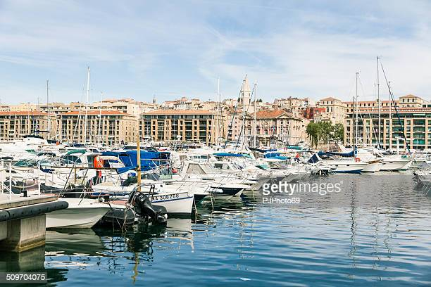the vieux port of marseille - pjphoto69 stock pictures, royalty-free photos & images
