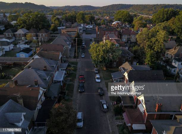 The view above Trenton Place where The Farm recovery center is located on October 2, 2019 in Huntington, WV. Huntington, West Virginia is...
