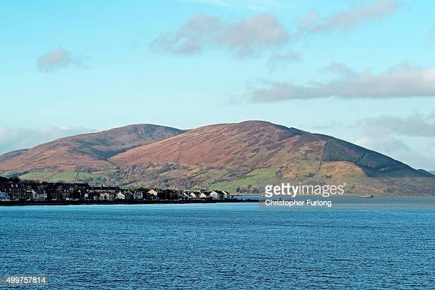 The view across Rothesay and Port Bannantyne where some Syrian refugee families will be housed on December 2 2015 in Rothesay Isle of Bute Scotland...