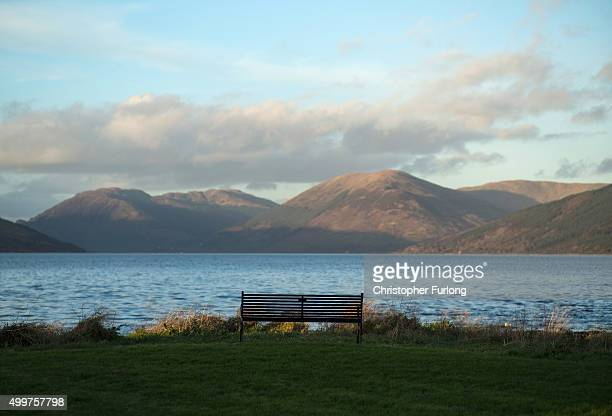 The view across the Kyles of Bute, a five minute walk from where Syrian refugees will be housed on December 2, 2015 in Rothesay, Isle of Bute,...