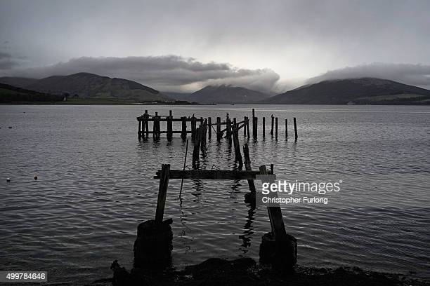 The view across the Kyles of Bute a five minute walk from where Syrian refugees will be housed on December 3 2015 in Rothesay Isle of Bute Scotland...