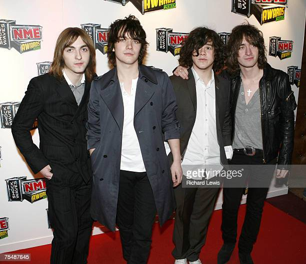 The View arrive at the Shockwaves NME Awards 2007 at the Hammersmith Palais in London United Kingdom