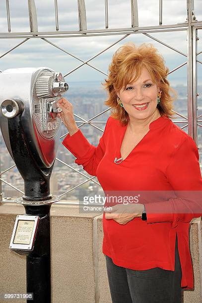 The View cohost Joy Behar lights the Empire State Building at Empire State Building on September 6 2016 in New York City