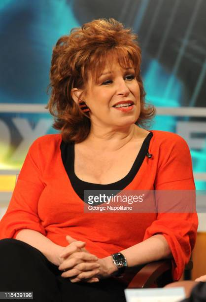 The View cohost Joy Behar unveils the new Kraft Bagelfuls on Good Day New York April 9 2008 in New York City
