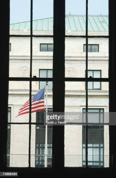 The view from a fourth floor window in the Russell Senate Office Building looking toward the Dirksen Senate Office Building