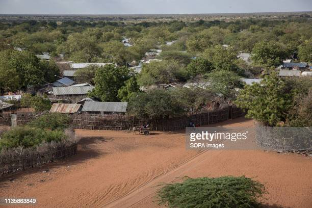 The view from a water tower in Dadaab refugee camp, eastern Kenya. Dadaab is one of the largest refugee camps in the world. More than 200,000...