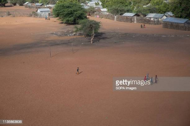 The view from a water tower in the refugee camp. Dadaab is one of the largest refugee camps in the world. More than 200,000 refugees live there -...