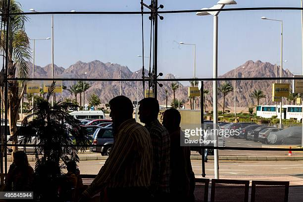 The view from inside the terminal on November 05 2015 in Sharm ElSheikh Egypt If the tourism industry in Egypt collapses workers who rely on the...