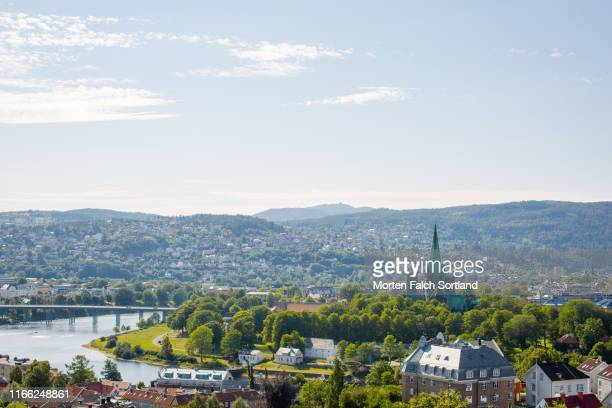the view from kristiansten fortress in trondheim, norway. - トロンハイム ストックフォトと画像
