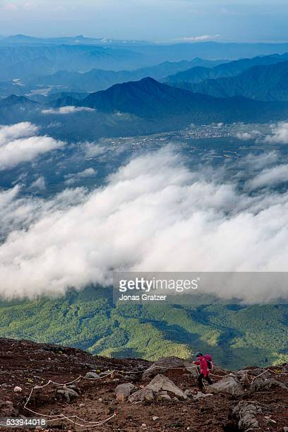 The view from Mount Fuji in Japan