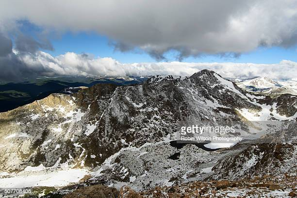 the view from mt evans - mt wilson colorado stock photos and pictures