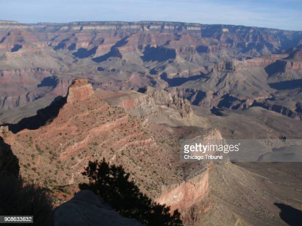 The view from Ooh Aah Point lives up to its name Look into the distance to spot the ribbon of South Kaibab Trail as it winds downward
