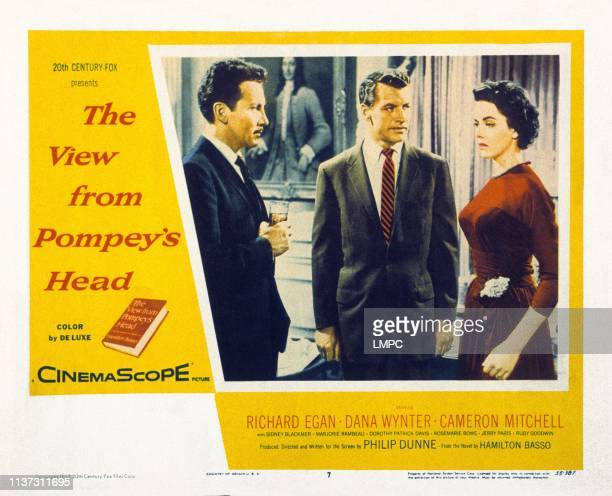 The View From Pompey's Head US lobbycard from left Cameron Mitchell Richard Egan Dana Wynter 1955