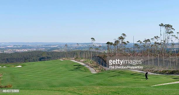 The view from the 17th tee of the Bom Sucesso Golf Resort in Portugal, circa 1990.