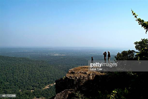 The view from the fort in Bandhavgarh National Park the former home of the Royal family of Rawa and now a tiger sanctuary with the highest...