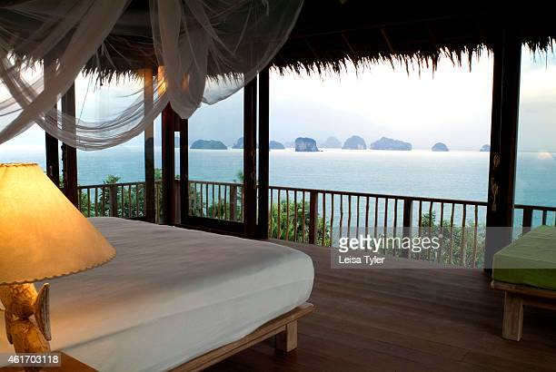 The view from the Hilltop Retreat a $10000 a night room at the new Six Senses Resort and Spa on Yao Noi a remote island between Phuket and Krabi in...