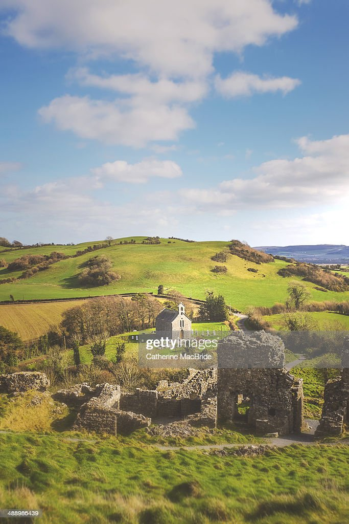 The view  from the Rock of Dunamase : Foto stock