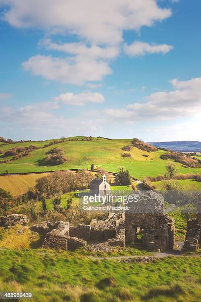the view  from the rock of dunamase - catherine macbride stock pictures, royalty-free photos & images