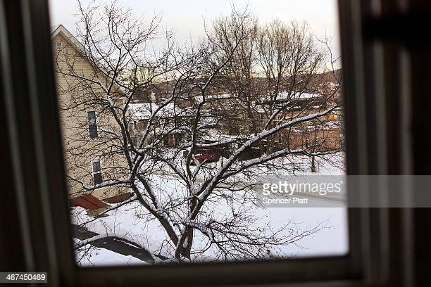 The view from the room of a heroin addict in St Johnsbury which has a high rate of heroin users on February 6 2014 in St Johnsbury Vermont Vermont...