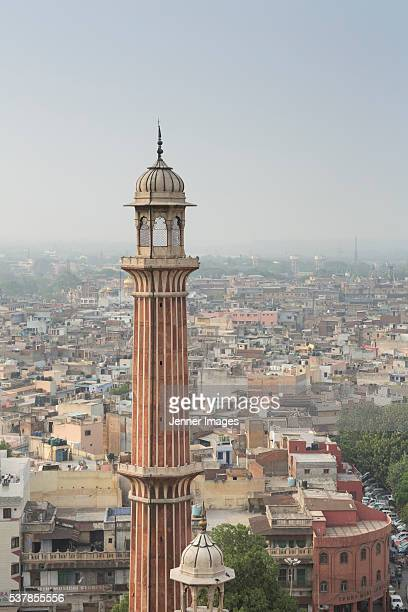 The view from the southern minaret of the Jama Masjid mosque in Old Delhi.