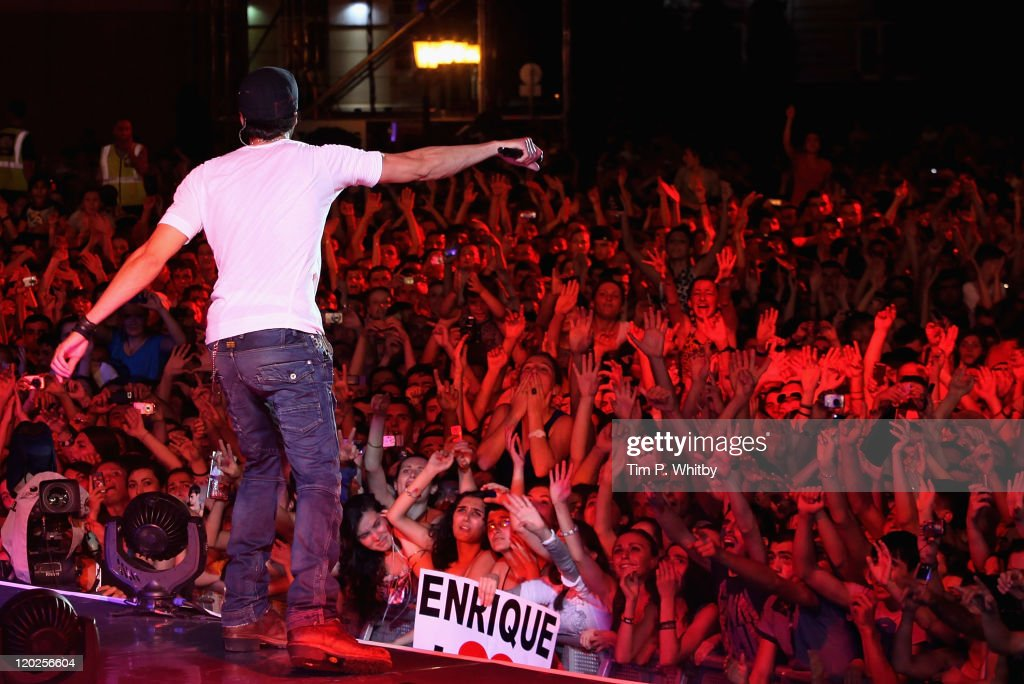 The view from the stage as singer Enrique Iglesias performs during MTV Live Georgia at Europe Square on August 2, 2011 in Batumi, Georgia.