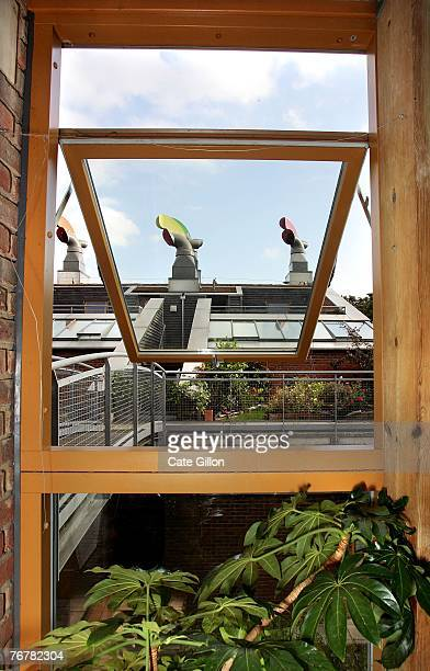 The view from the sunspace inside the show home in the eco village on Helio Road in WallingtonSurrey which had its doors open to the public for...