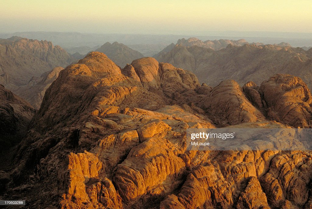 The view from the top of Mount Sinai, where Moses received the Ten