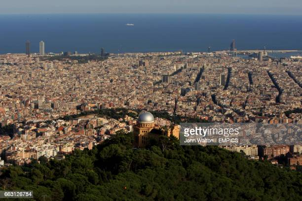 The view from Tibidabo looking out over Barcelona