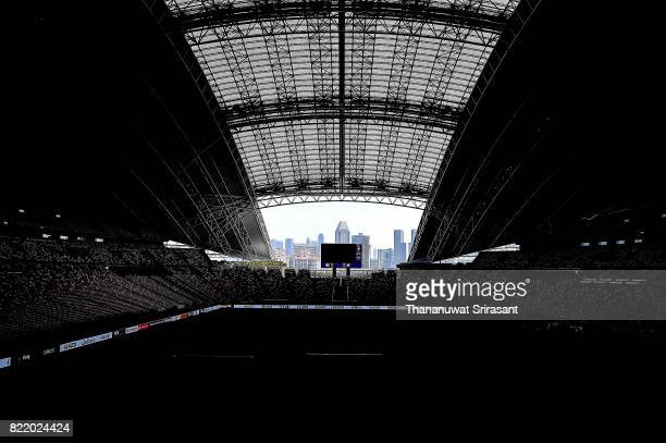 The view inside Singapore National Stadium during the International Champions Cup match between Chelsea FC and FC Bayern Munich at National Stadium...