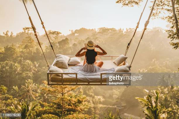 the view is best from above - bali stock pictures, royalty-free photos & images