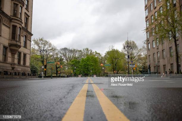The view looking east along 72nd Street towards Central Park amid the coronavirus pandemic on April 24 2020 in New York City United States COVID19...
