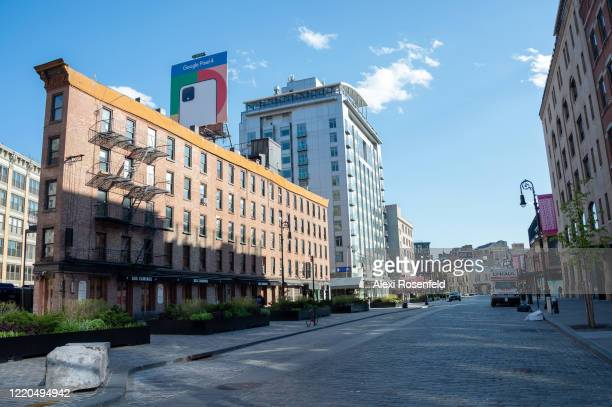 The view of an empty street in Chelsea amid the coronavirus pandemic on April 22 2020 in New York City United States COVID19 has spread to most...