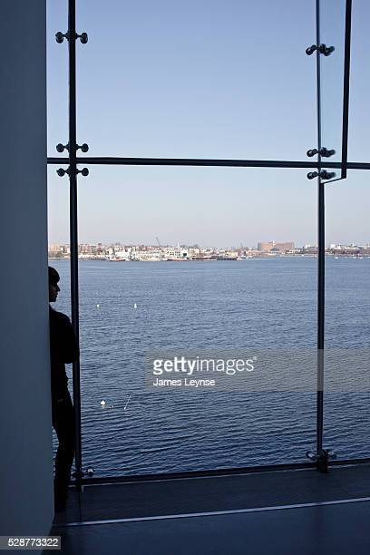 The view of Boston Bay from The Institute of Contemporary Art in Boston The building was designed by architects Diller Scofidio Renfro and opened to...